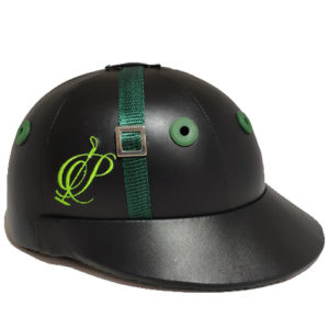 Polo Helmet lock model in leather