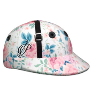Casco de Polo White Flowers